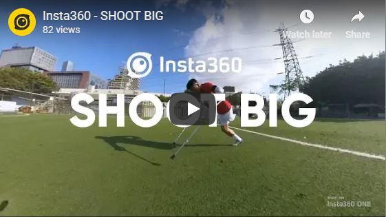 One-legged soccer player (360 overcapture video shot on Insta360 One)
