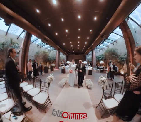Wedding entrance 360 dolly shot