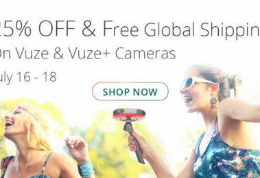 Vuze 3D 360 camera 25% discount