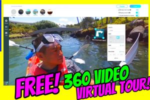 Learn how to create a 360 video virtual tour with hotspots for free!