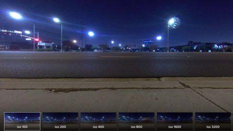 Insta360 One X low light photo ISO comparison