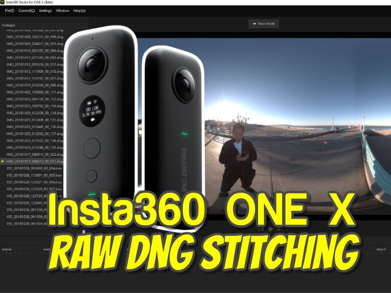 Insta360 One X Raw DNG stitching