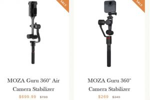 Black Friday 2018: Moza GimbalGuru stabilizers