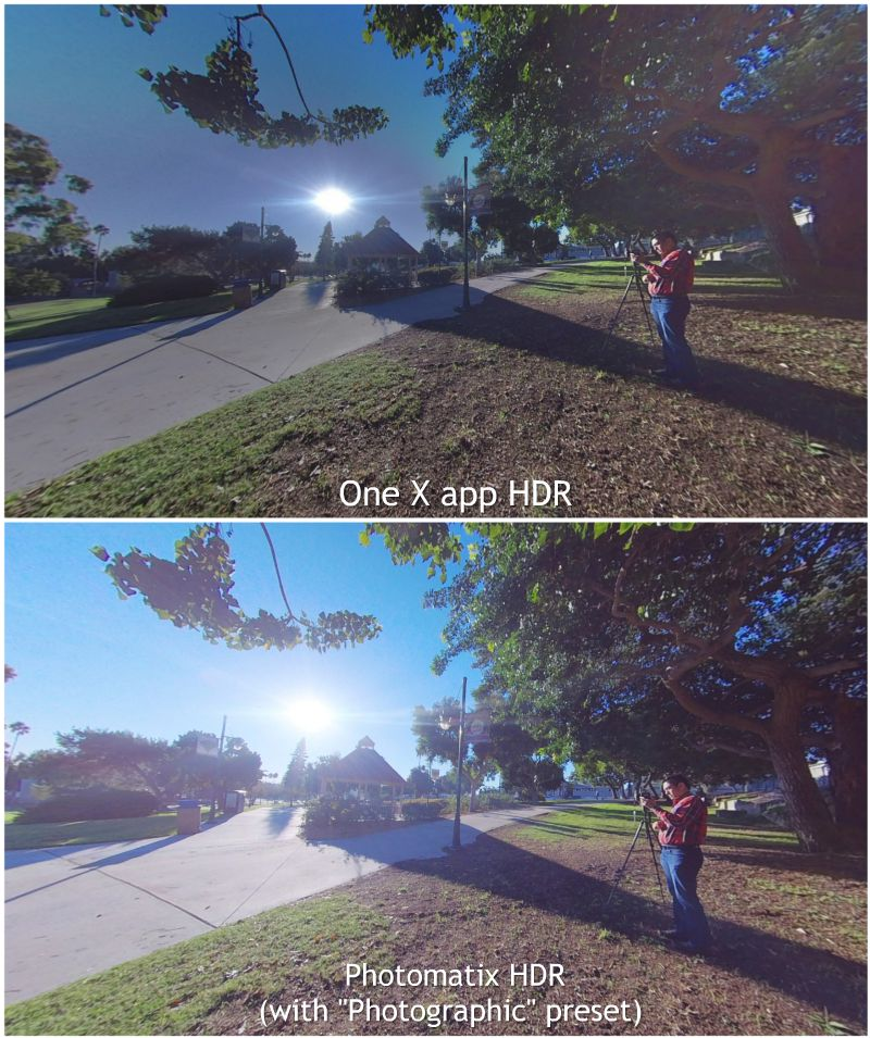 Insta360 One X in-app HDR vs. Photomatix HDR
