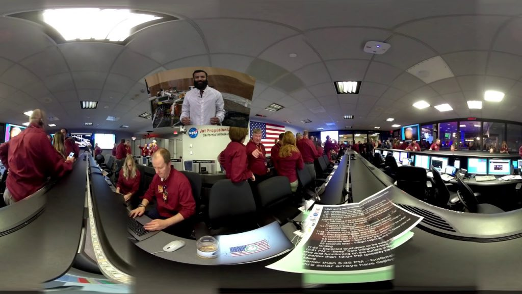 Insight Mars landing 360 video