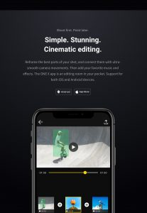 Insta360 One X video editing within the app