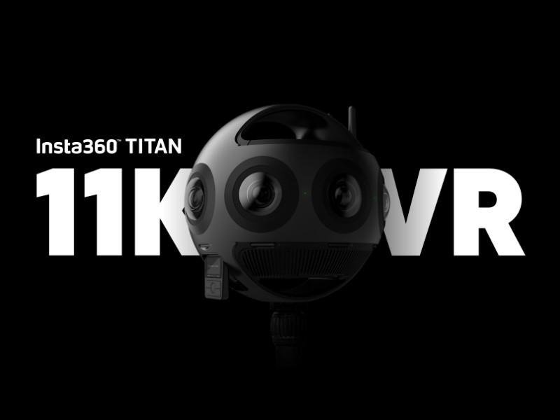 Insta360 Titan 11K 360 camera with 8 Micro Four Thirds sensors