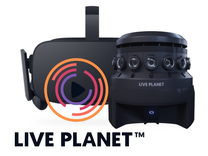 Live Planet professional 3D 360 camera with live streaming