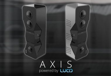 Axis depth-sensing VR180 camera by Lucid