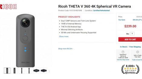 Ricoh Theta V discount $239