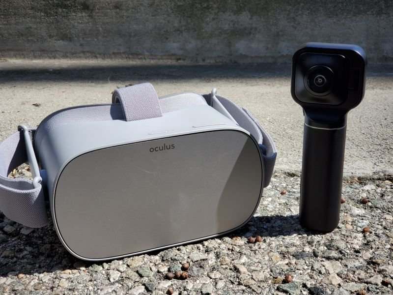 View Vuze XR phtoos and videos wirelessly on Oculus Go