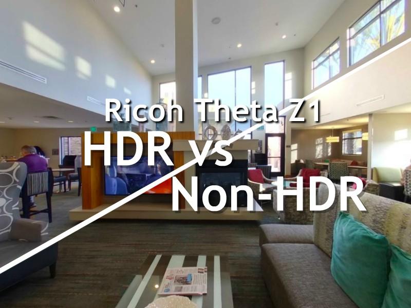 Theta Z1 HDR vs Non-HDR comparison