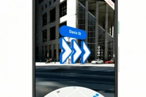 Google Maps AR directions