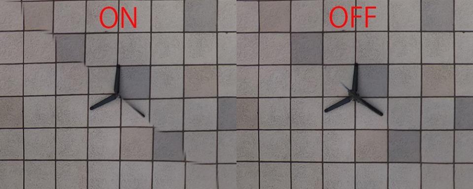 Theta Z1 nadir option. Comparison photo by NAOTO SOMESE