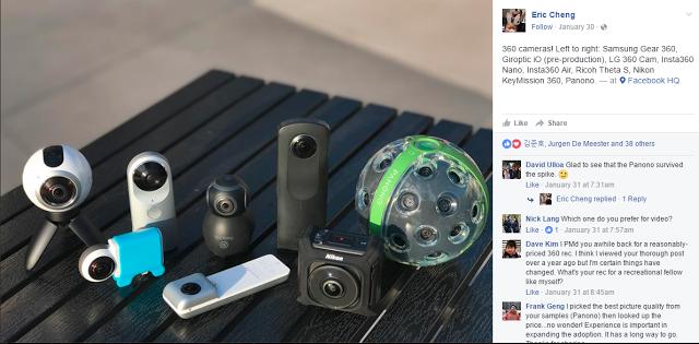 Facebook compares eight 360 cameras!