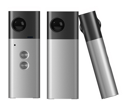 Eloam Mini 720 is a slim, low-cost fully spherical 360 camera