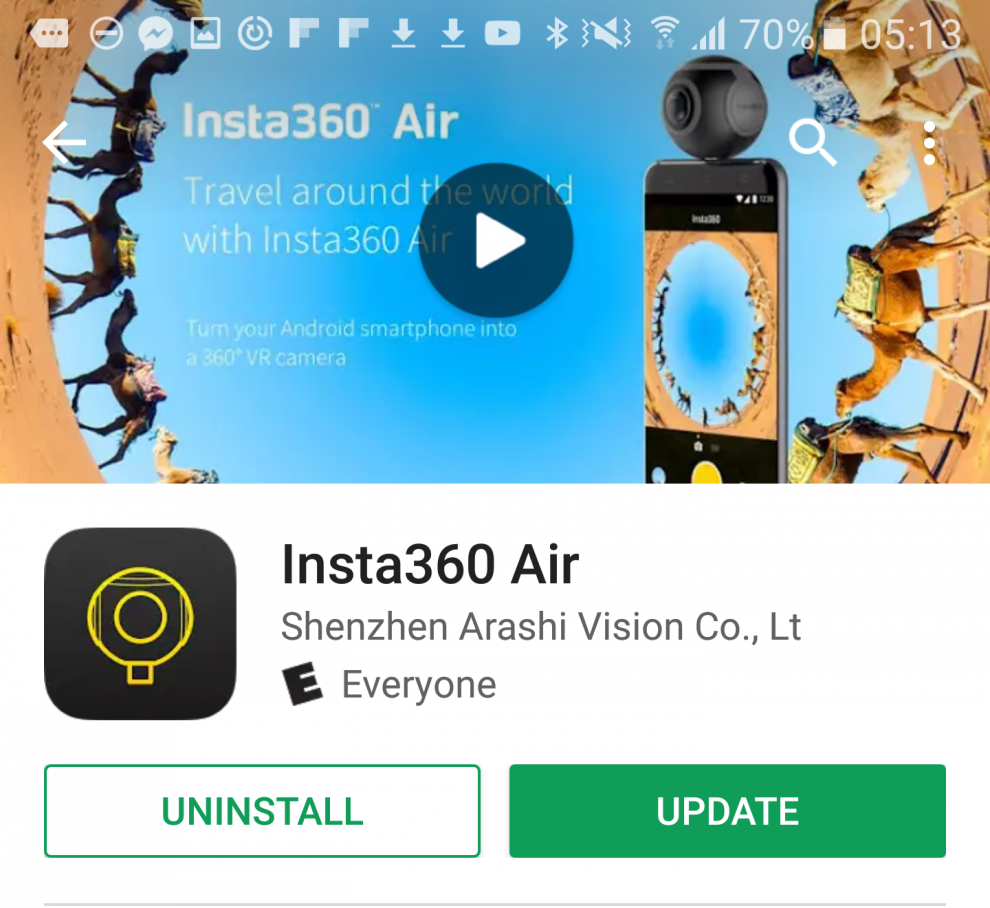 Insta360 Air and Insta360 Studio update