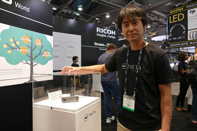 Ricoh Theta 4K at NAB Show 2017