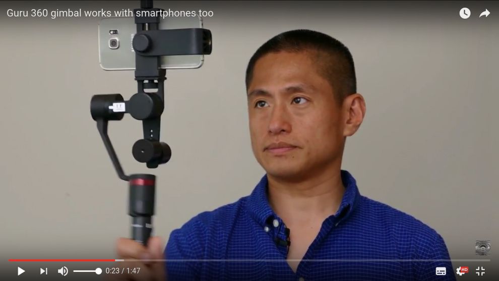 Guru 360 gimbal works with smartphones too