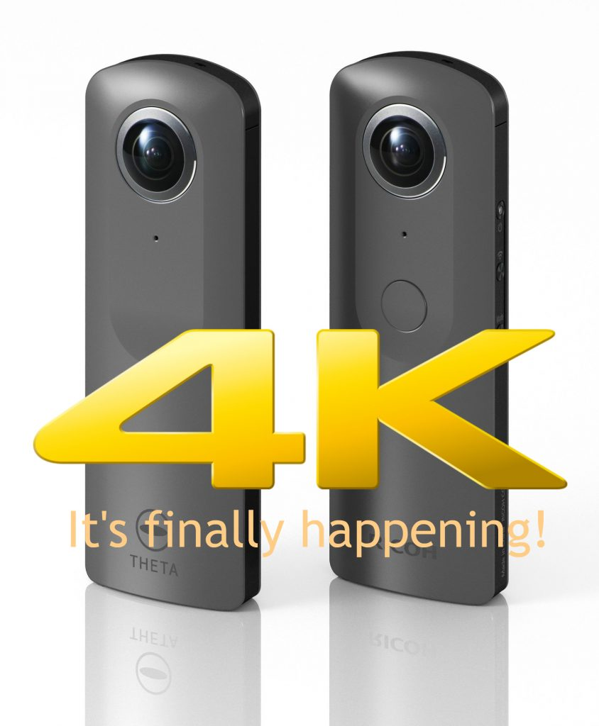 Ricoh Theta 4K is real