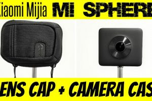 Camera case and lens cap for Xiaomi Mijia Mi Sphere