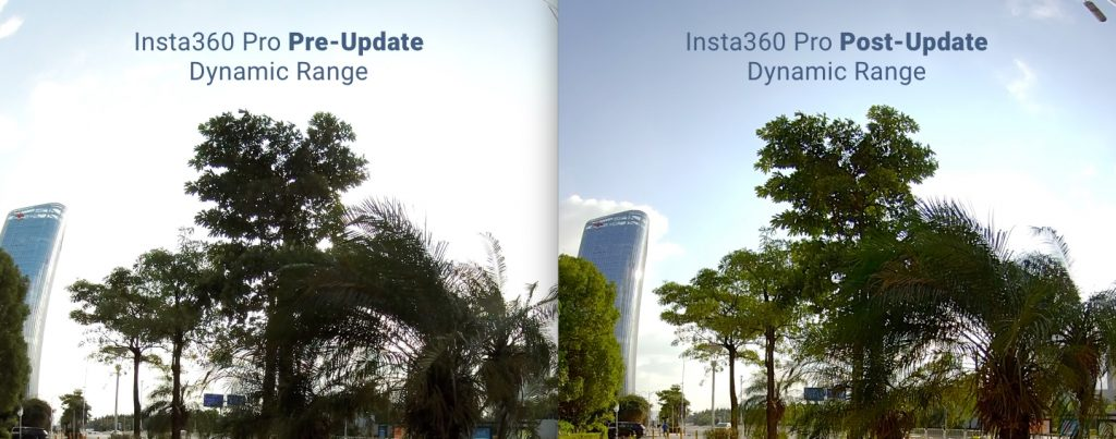 Insta360 Pro v 2.0 Dynamic range comparison