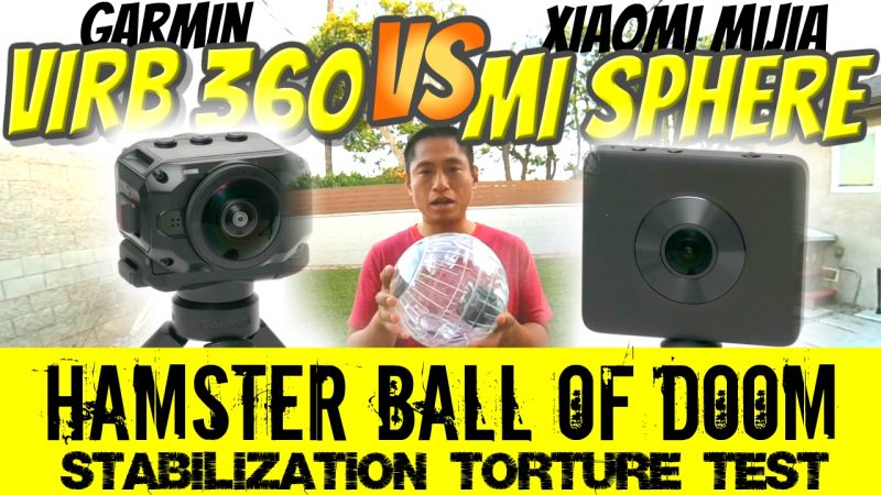 Garmin Virb 360 vs Xiaomi Mijia Mi Sphere stabilization comparison test