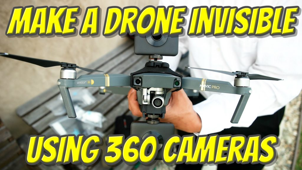 Make a drone invisible using 360 cameras