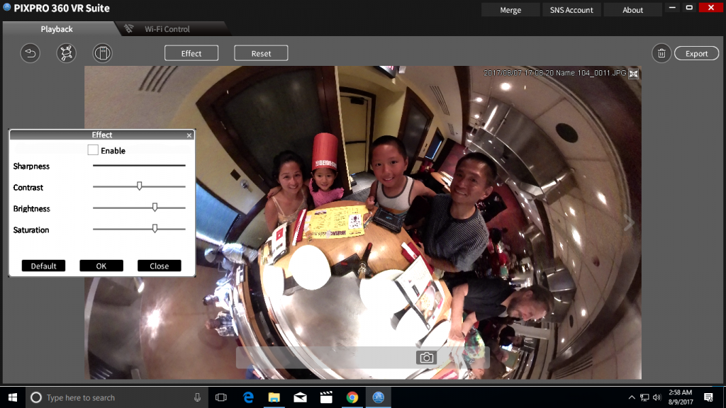 Orbit360's software can edit 360 photos