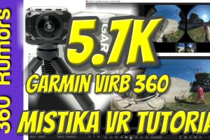 Stitch 5.7K 360 Videos on Garmin Virb 360 with Mistika VR