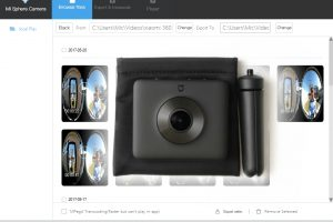 PC app for Xiaomi Mijia Mi Sphere 360 camera