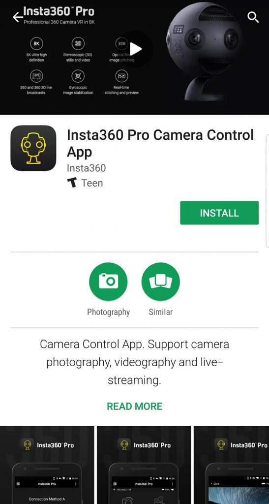 Insta360 Pro app now on both iOS and Android