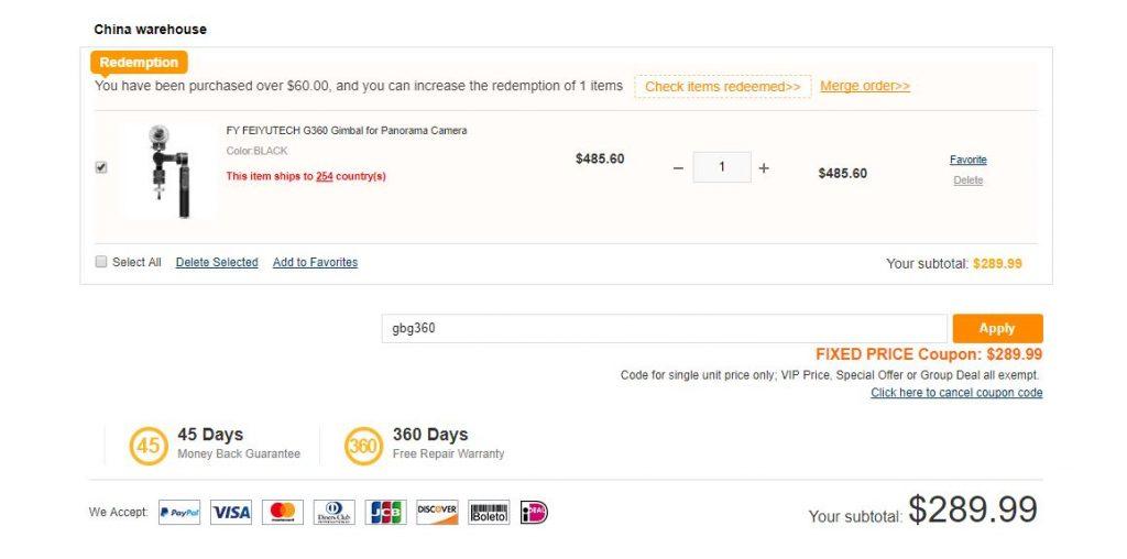 Feiyu G360 discount