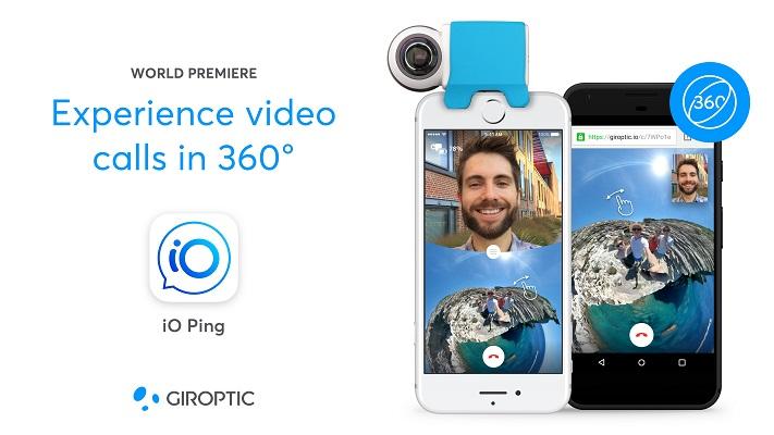 Giroptic iO Ping 360 video calls