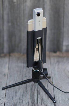 Cinerails Insta360 Nano smartphone tripod adapter