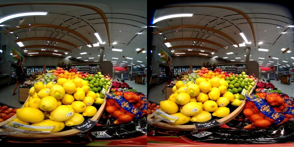 LucidCam VR180 photo sample in equirectangular format