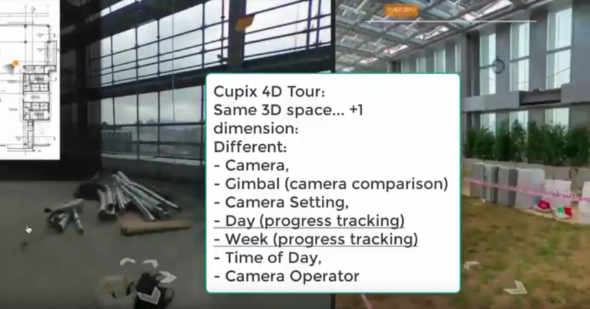 Cupix virtual tours now have 4D comparison view