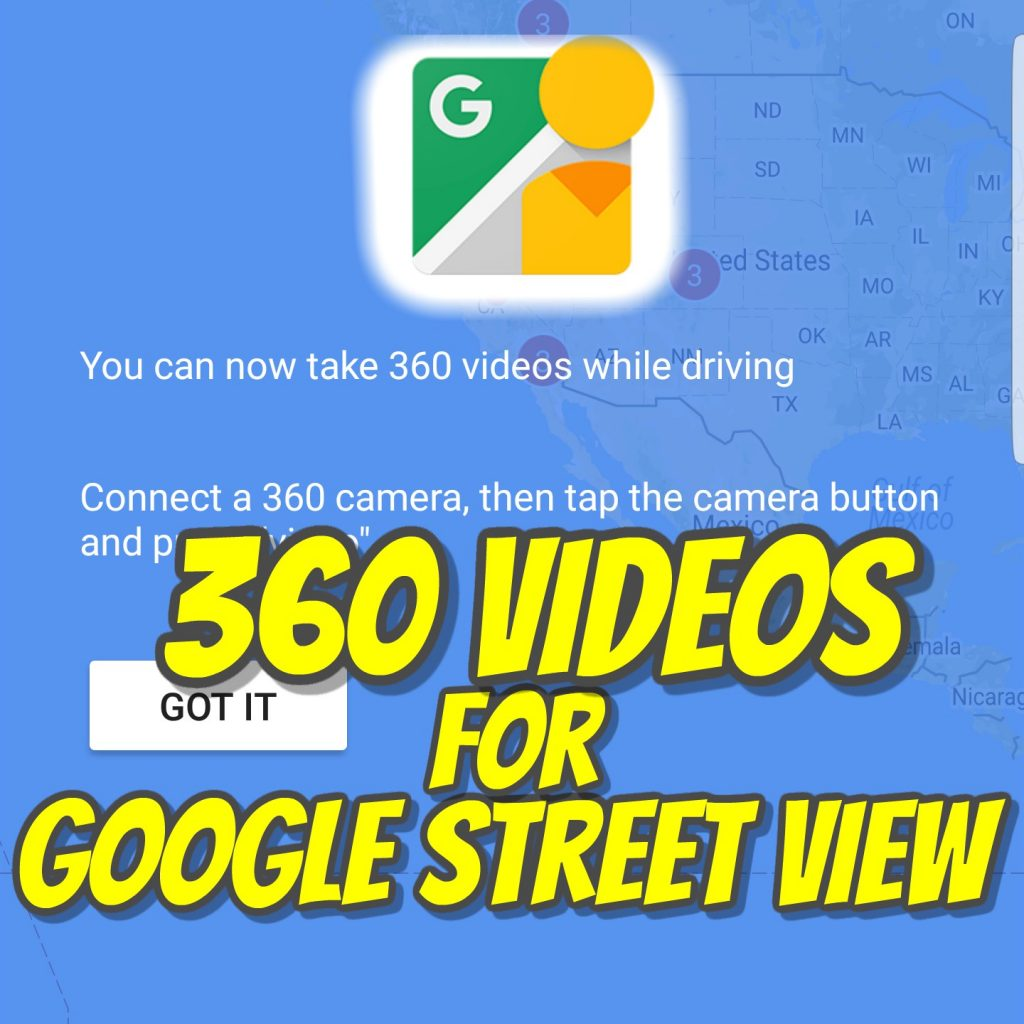 Google Street View 360 video