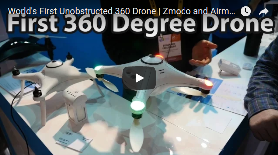 Invisible 360 drone by Zmodo and Airmada