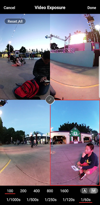 Vuze camera's updated app now shows a preview of all sides