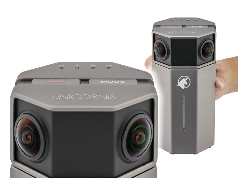 Unicornis is a 4K 360 camera with realtime stitching and