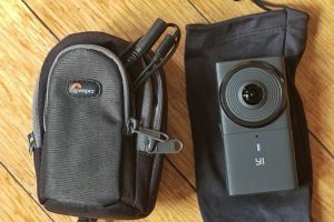 camera case and lens cap for Yi 360 VR and Samsung Gear 360 2017