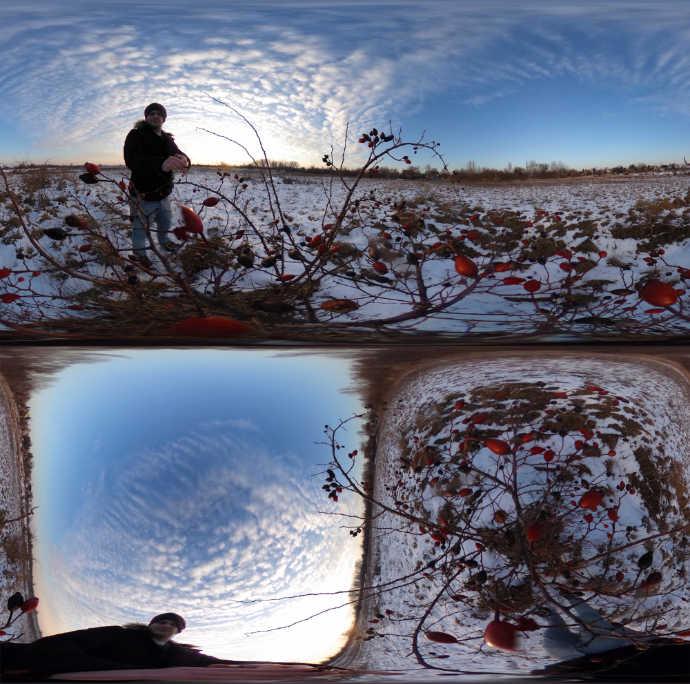 Straighten horizon of multiple Ricoh Theta photos