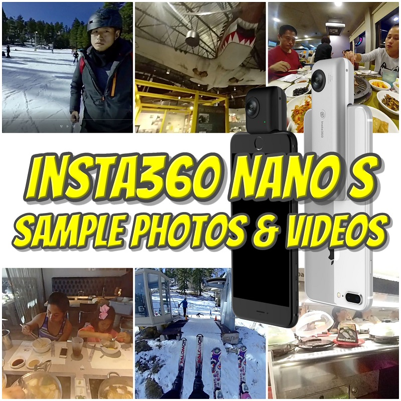 Insta360 Nano S sample photos and videos