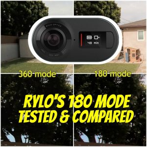 Rylo's April 2018 update added new features such as the 180 mode