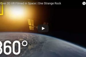 First 3D 360 video in Space by National Geographic and Vuze camera