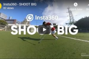 One-legged soccer player (360 overcapture video shot on Insta360 One)