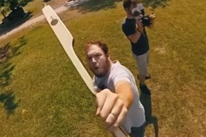 360 camera on an arrow