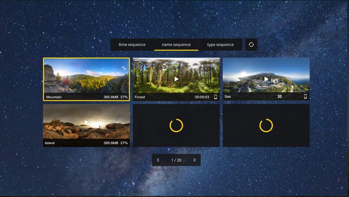 Insta360Moment main menu