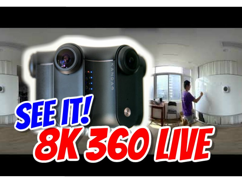 Watch 8k 360 video live stream with Kandao Obsidian and Visbit